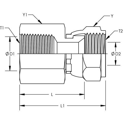 6506-08-08 Hydraulic Fitting 1//2 Female JIC Swivel X 1//2 Female Pipe Carbon Steel