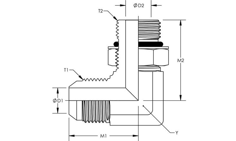 Black 1//4-20 x 25//64 Depth Thread Pack of 5 Morton 3735AC Thermoplastic T-Knob with Brass Insert 1-3//8 Length